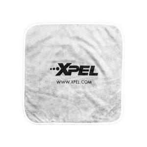 Grey/White 16′ x 16′ (40.64cm x40.64cm) XPEL Microfiber Towel (360 GSM)