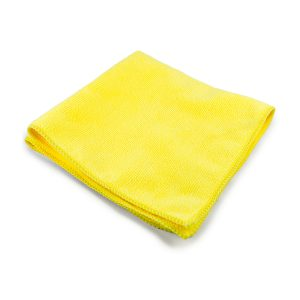 Yellow 16 x 16 Microfiber Towel – 300 GSM