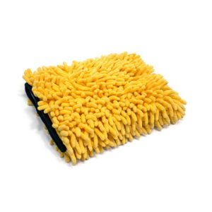 Microfiber Chenille Wash Mitt (Yellow/Black)